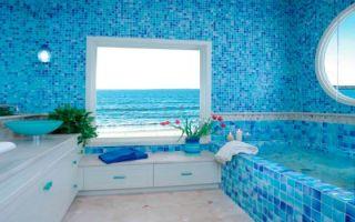 Морской стиль в интерьере ванной комнаты