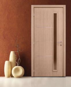 Шпонированная дверь - фото.