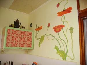 Отделка стен на кухне - фото.