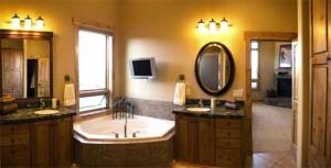 Пример освещения в ванной.