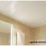 Установка пластиковых панелей на потолок