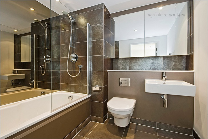 Зеркала в интерьере ванной комнате