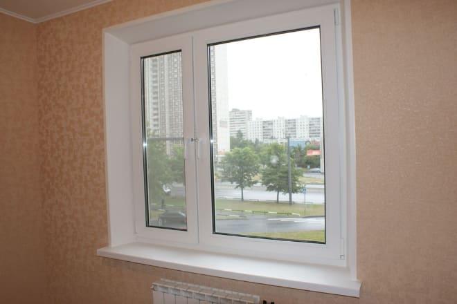 Окно из пластика в квартире