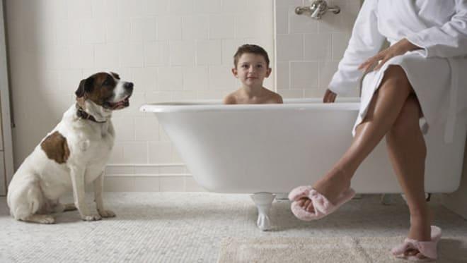 Ванная и ребёнок