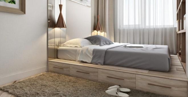 Как выбрать кровать для миниатюрной спальной комнаты