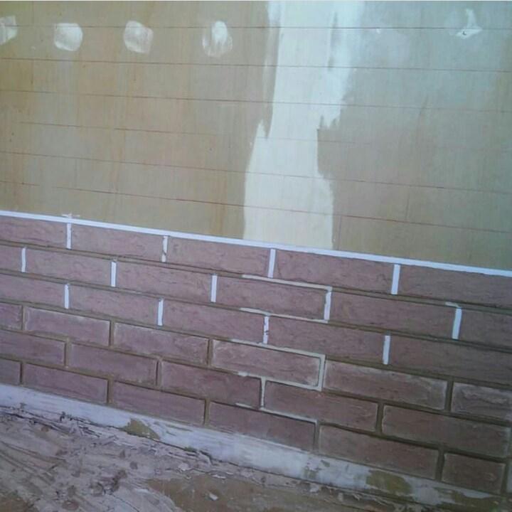 Кирпичная стена своими руками 2
